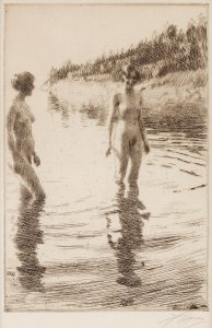 Illustration : Anders Zorn, Shallow, 1913.